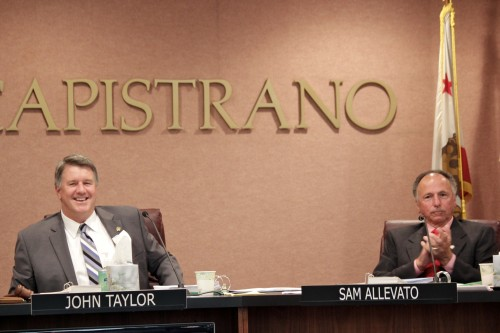 Mayor John Taylor and Mayor Pro Tem Sam Allevato. Photo by Brian Park