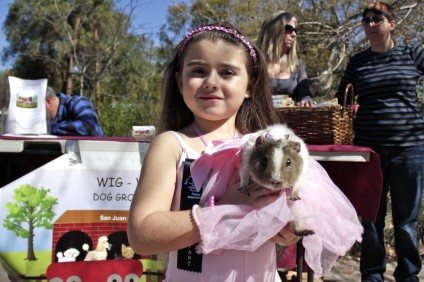 Gianna Plaitano, 6, with her pet guinea pig, Ballet. Photo by Brian Park