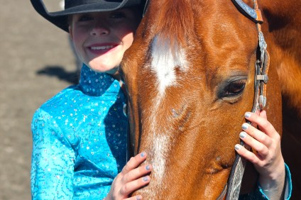 San Clemente resident Ava Garriott with her horse, Banks. Courtesy photo