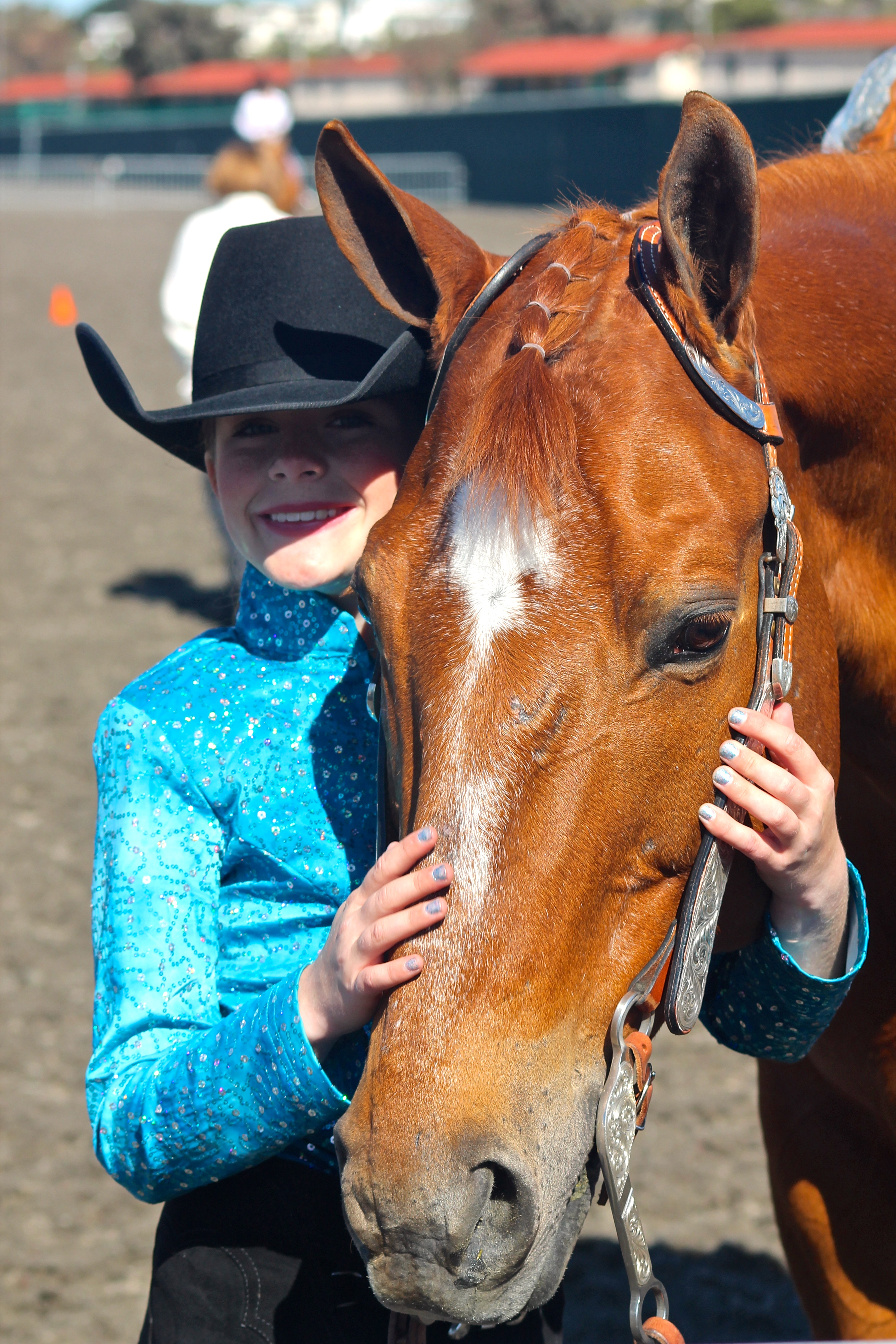 San Clemente resident Ava Garriott with her horse, Banks. Courtesy photo