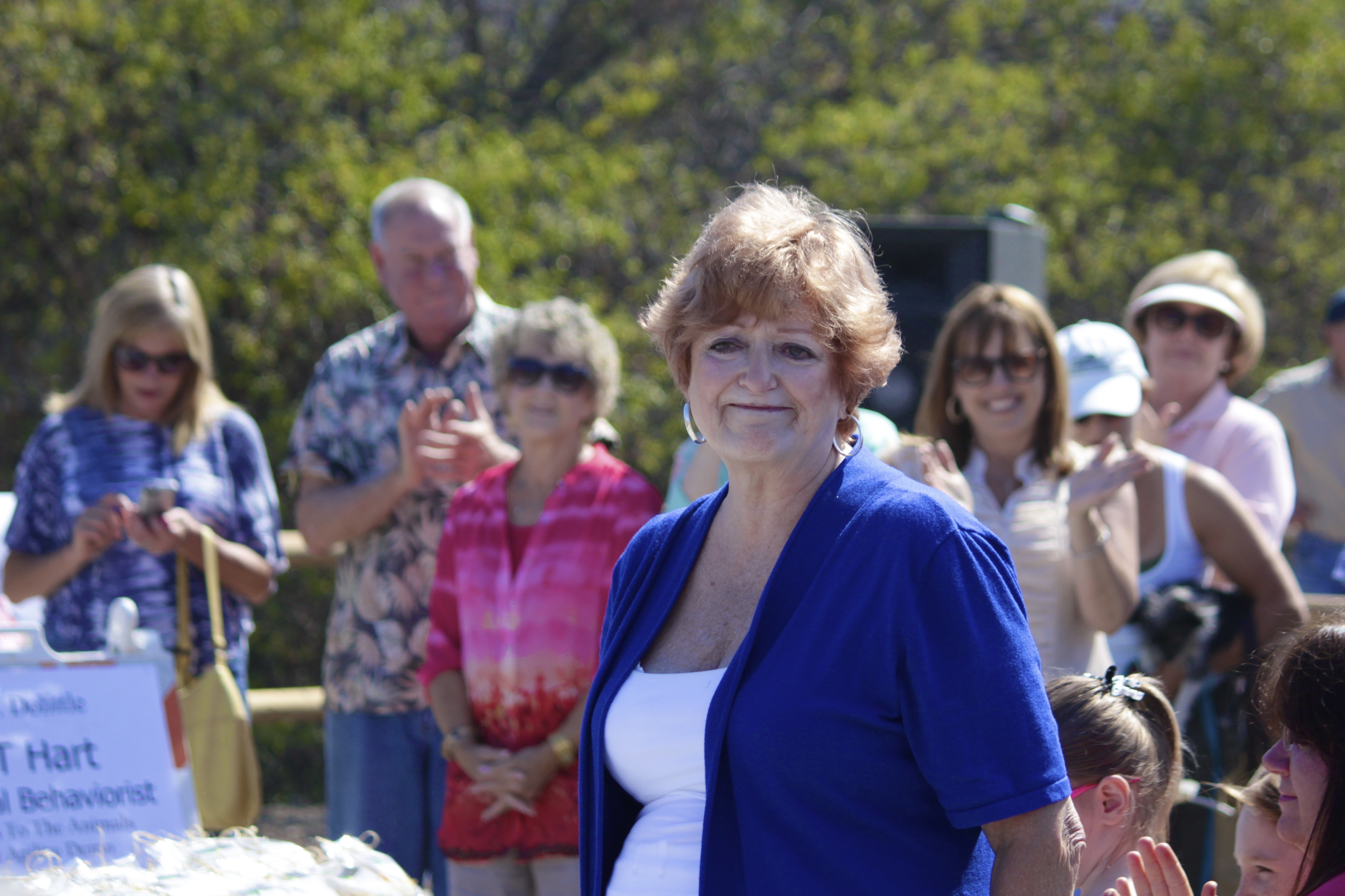 Goldee Cortese, widow of Dr. Joe Cortese, is recognized before the ribbon cutting. Photo by Brian Park