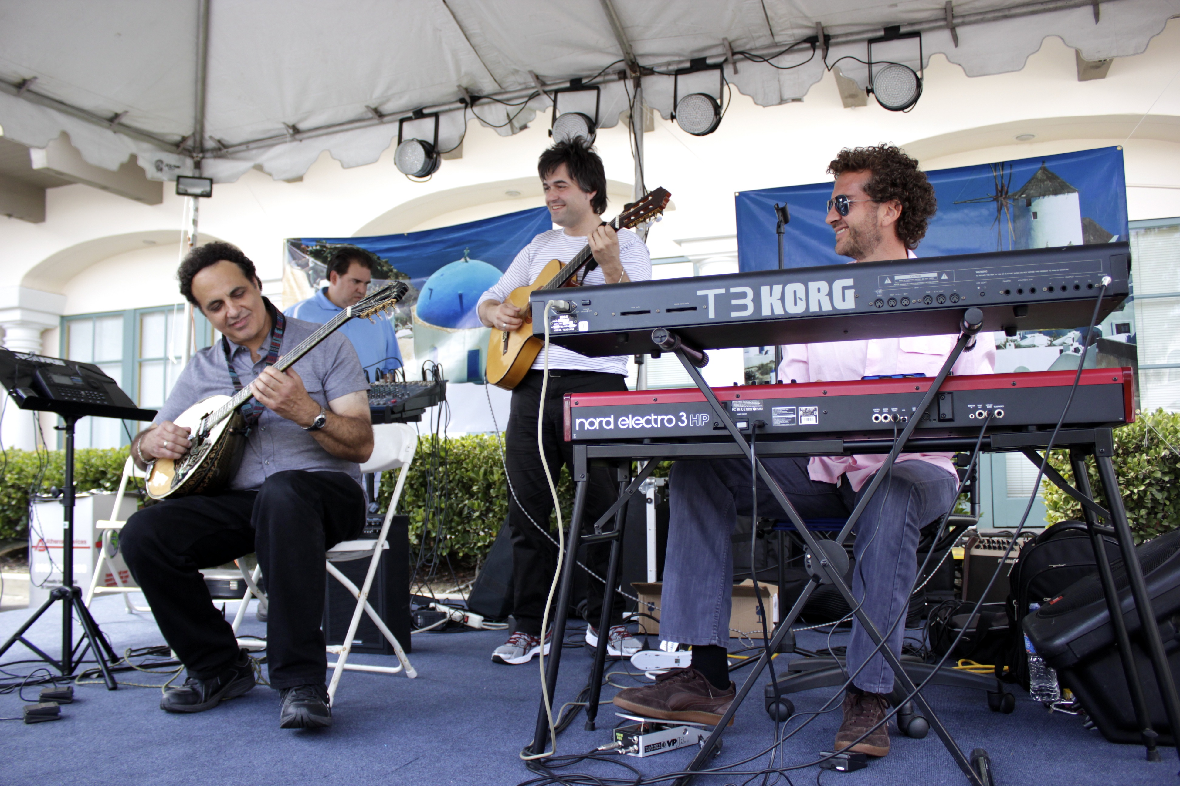Musicians perform traditional Greek pieces during the Greek Festival. Photo by Brian Park