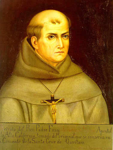 The Mission will celebrate the 300th anniversary of the birth of its founder, Fr. Junípero Serra, with a special bell-ringing ceremony and tribute on Sunday, November 24. The Historical Society will also display memorabilia from the 250-year celebration of Serra through December. Courtesy of the Historical Society