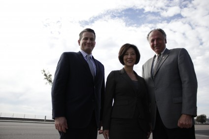 The newly selected mayors from San Clemente, Dana Point and San Juan Capistrano, pictured (L to R) Tim Brown, Lisa Bartlett and Sam Allevato, respectively, met with Picket Fence Media staff on Tuesday, December 17 to discuss issues facing south Orange County. Photo by Brian Park