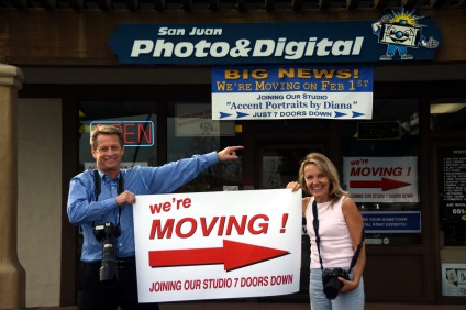 Scott Schmitt's photo lab, San Juan Photo & Digital, will be moving in with his wife Diana's business, Accent Portraits by Diana, on Feb. 1. Photo by Cheryl Wayland