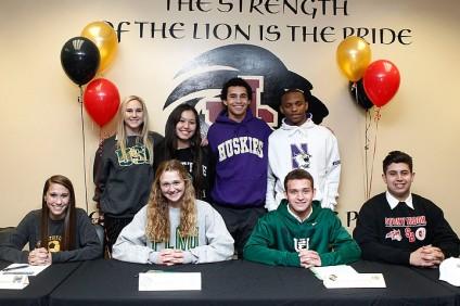 JSerra student-athletes signed their National Letters of Intent on February 5. Photo courtesy of JSerra Athletics