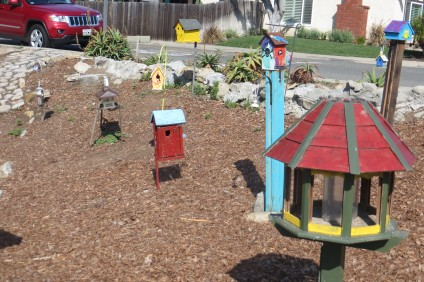 A small garden filled with hand-painted birdhouses delighted one San Juan Capistrano resident enough to pen a Letter to the Editor. Courtesy of Donna L. Friess