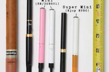 A compilation of electronic cigarettes. Courtesy of the Orange County Sheriff's Department