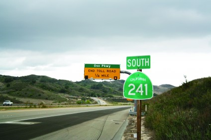 The current terminus of the 241 Toll Road is Oso Parkway. The Transportation Corridor Agencies announced Tuesday that it was withdrawing an environmental review of its proposal to connect with Interstate 5 of San Clemente. File photo
