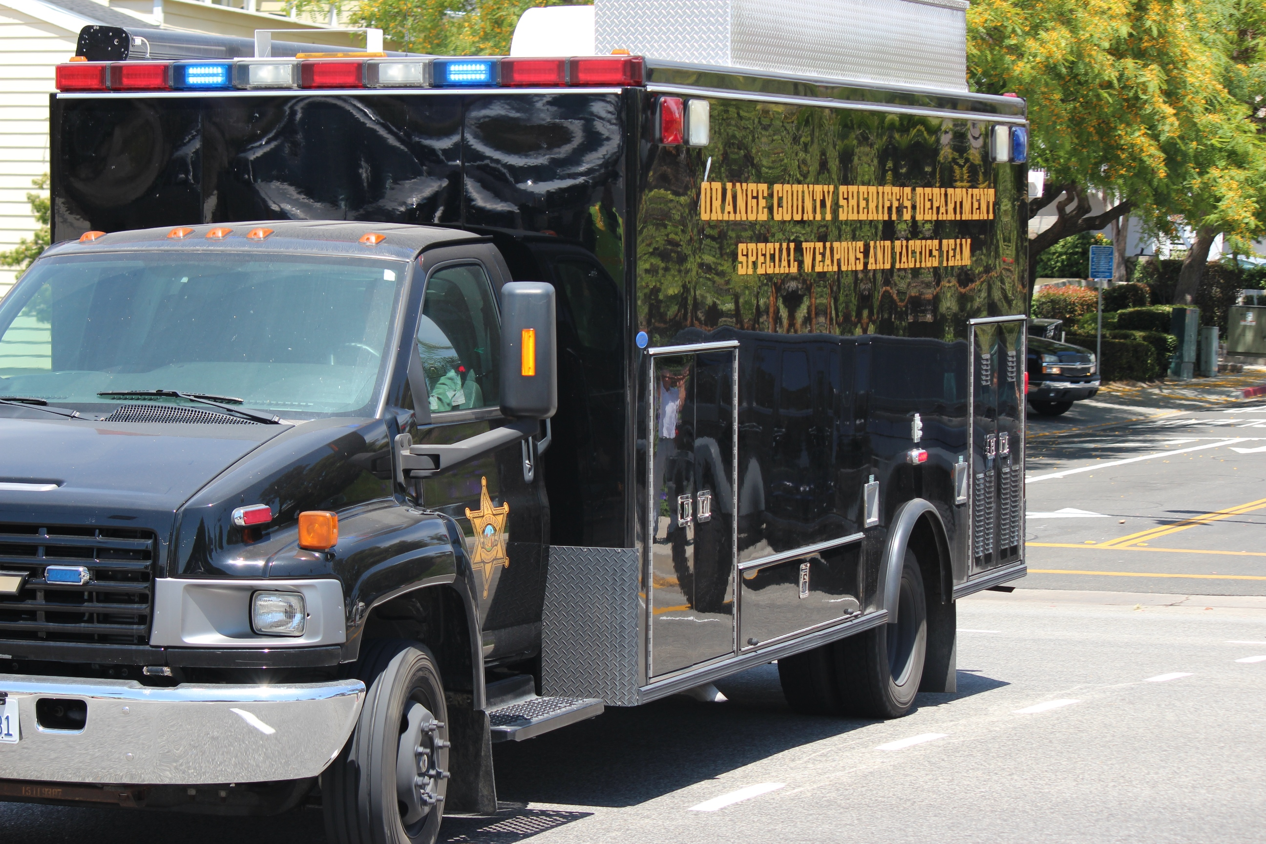 The Orange County Sheriff's Department SWAT team responded to a lockdown of Dana Hills High School Thursday after an empty gun case was found on campus. Photo: Jim Shilander