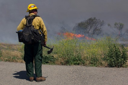 Camp Pendleton Fire Department is working with other fire agencies to contain the Tomahawk, Pulgas and San Mateo fires. Courtesy photo