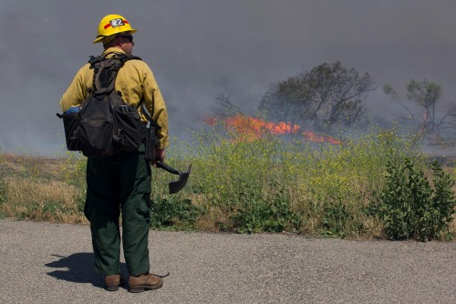 Camp Pendleton Fire Department is working with Cal Fire and the North County, Orange County and Oceanside fire departments to contain the Tomahawk fire. Courtesy photo