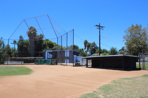 The below ground dugouts at Old Majors Field are popular amongst Little League players. Photo: Steve Breazeale