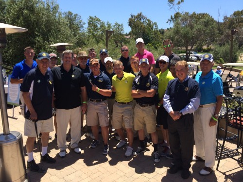 San Juan Capistrano Rotary Club members invited 16 marines from the city's adopted regiment, the 1st Battalion, 11th Marines at Camp Pendleton, to their fifth annual golf tournament. Photo: Brian Park