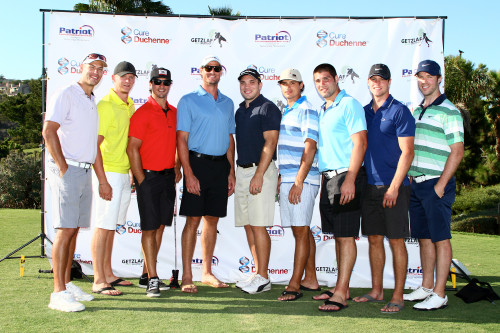 Members of the Anaheim Ducks pose for a photo during last year's Getzlaf Shootout golf tournament. Photo: Shanda Photographic
