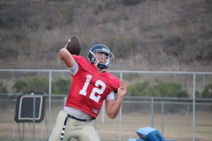 San Juan Hills junior quarterback Patrick O'Brien will start his first varsity game on Friday, Aug. 29. Photo: Steve Breazeale