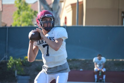 Sophomore George Krantz is one of three St. Margaret's players vying for the starting quarterback position. Photo: Steve Breazeale