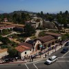 An aerial photo of the Hands Around the Mission event. Photo: Mission San Juan Capistrano/JUVE Creative/Aerial Media International