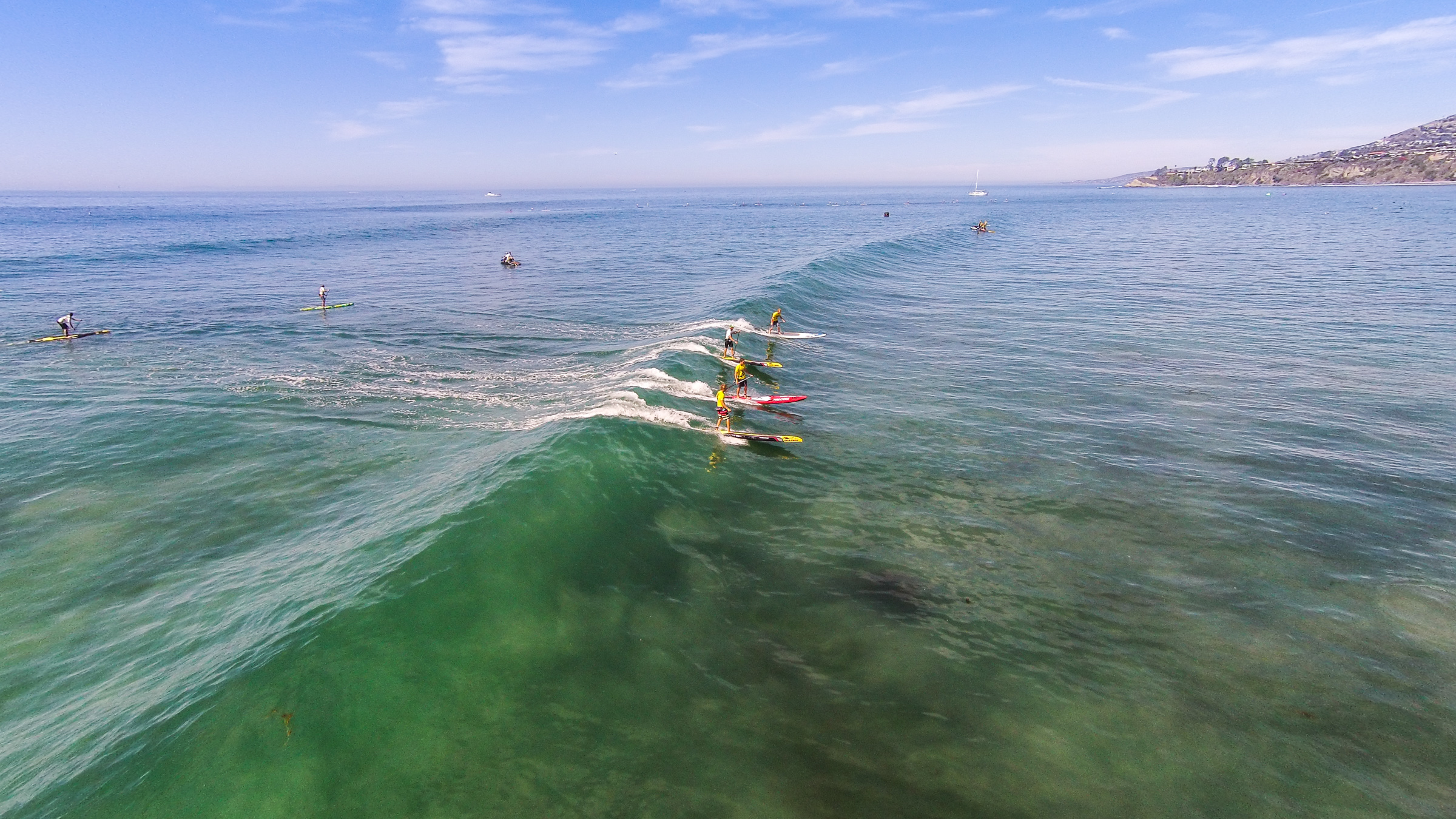 Multiple races catch a wave at the Battle of the Paddle. Photo: Tony Tribolet/www.xpsphoto.com