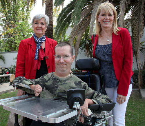 City Council members Kerry Ferguson, Derek Reeve and Pam Patterson gather for a photo at San Juan Capistrano's Veterans Day ceremony. Photo: Allison Jarrell