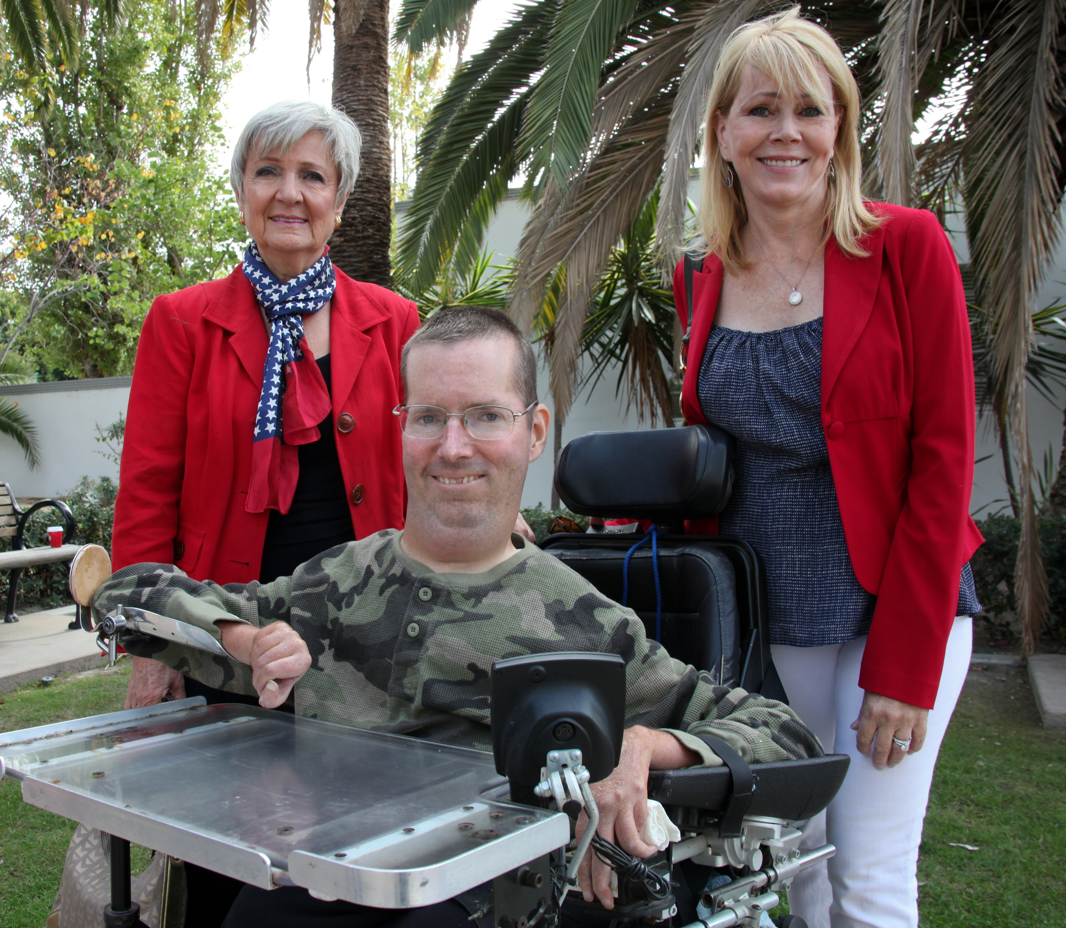City Council members Kerry Ferguson, Derek Reeve and Pam Patterson gather for a photo at San Juan Capistrano's Veterans Day ceremony in 2014. Photo: Allison Jarrell