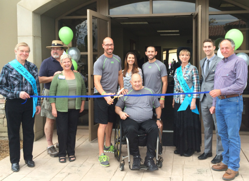 After opening in June, Strides Spinal Cord Injury Functional Fitness celebrated its ribbon cutting in November. Courtesy Debra Wells
