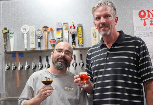 Ron Bland, left, and Andrew Reed recently opened The Brewhouse in San Juan, enhancing the craft beer scene downtown. Photo: Allison Jarrell