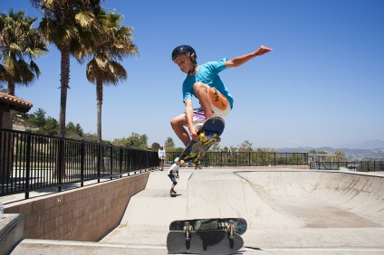 A skatepark initiative was discussed at the Nov. 10 meeting of the San Juan Capistrano Youth Advisory Board. The park shown here is Ralphs Skate Court in San Clemente. The skater is San Clemente resident Nathan Carabba. Photo: Sheri Crummer