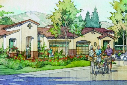 An early artist rendering of the proposed Laguna Glen senior living community in San Juan Capistrano. Courtesy of Spieker Senior Development