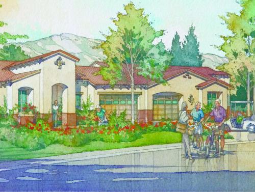 An early artist rendering of the proposed Laguna Glen senior living community in San Juan Capistrano. Courtesy of Spieker Senior Development