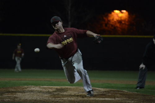 Junior pitcher/first baseman Collin Quinn threw 5 2/3 innings in the MLK Tournament, allowing one hit while striking out five with no walks. Photo: KDahlgren Photography