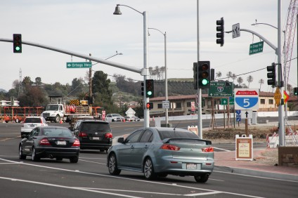 Residents Jacob and Michael Palmer suggest renaming the portion of Ortega Highway west of Interstate 5 to Old Mission Road. Photo by Allison Jarrell