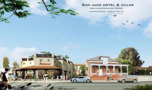 The latest rendering of Urban Village's San Juan Hotel & Villas project. Courtesy of Urban Village