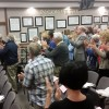 Roy Byrnes receives a standing ovation at the San Juan Capistrano City Council's Feb. 17 meeting. Photo: Allison Jarrell