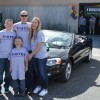 Danny Ziegler and his family pose with their new car at the Feb. 26 unveiling, which took place at Caliber Collision's San Juan Capistrano location, 26442 Via De Anza. Photo: Courtesy of Kimbriel Marketing Communications