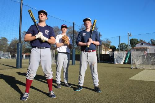 Jake Bradley, Evan Clary and Michael Messina will lead the St. Margaret's baseball team in 2015. Photo: Steve Breazeale