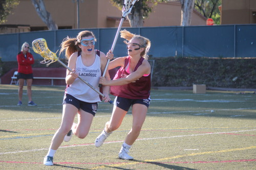 Sophomore attack Cameron Manor, right, and the St. Margaret's girls lacrosse team will field a veteran group in 2015. Photo: Steve Breazeale