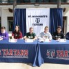 St. Margaret's student-athletes take part in a signing day ceremony on campus April 15. Photo: Courtesy