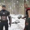 Marvel's Avengers: Age Of Ultron L to R: Captain America/Steve Rogers (Chris Evans) and Thor (Chris Hemsworth) Ph: Jay Maidment ©Marvel 2015  L to R: Captain America/Steve Rogers (Chris Evans) and Thor (Chris Hemsworth)  Ph: Jay Maidment  ©Marvel 2015