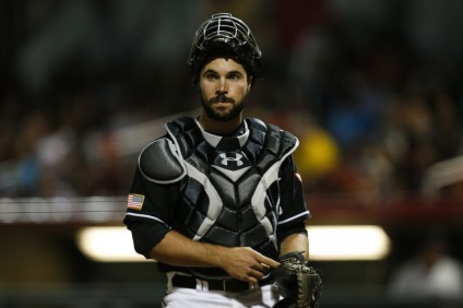 Austin Hedges, seen here with Triple-A El Paso, was called up to the big leagues by the San Diego Padres on May 4. Photo: Ivan Pierre Aguirre