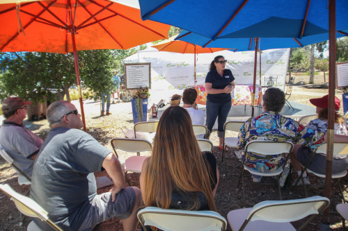 A lecture at the 2015 Eco Garden Expo in Los Rios Park. Photo: Allison Jarrell