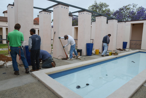 Phase one of the La Sala Beautification project was installed April 21. Photo: Courtesy of Valerie Drey