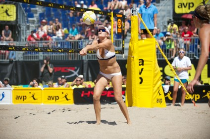 Jennifer Kessy returns to the professional volleyball world after taking all of 2014 off. Photo: AVP