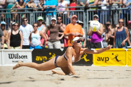 Jennifer Kessy (pictured) will play with new partner Emily Day in 2015. Photo: AVP