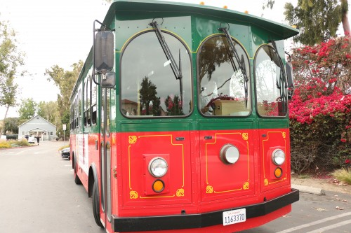 The city began free weekend trolley service in San Juan Capistrano on Friday. Photo: Eric Heinz