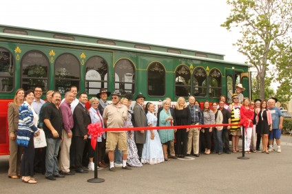 The official ribbon cutting for San Juan's new summer trolley service took place Friday, June 12. Photo: Andrea Swayne