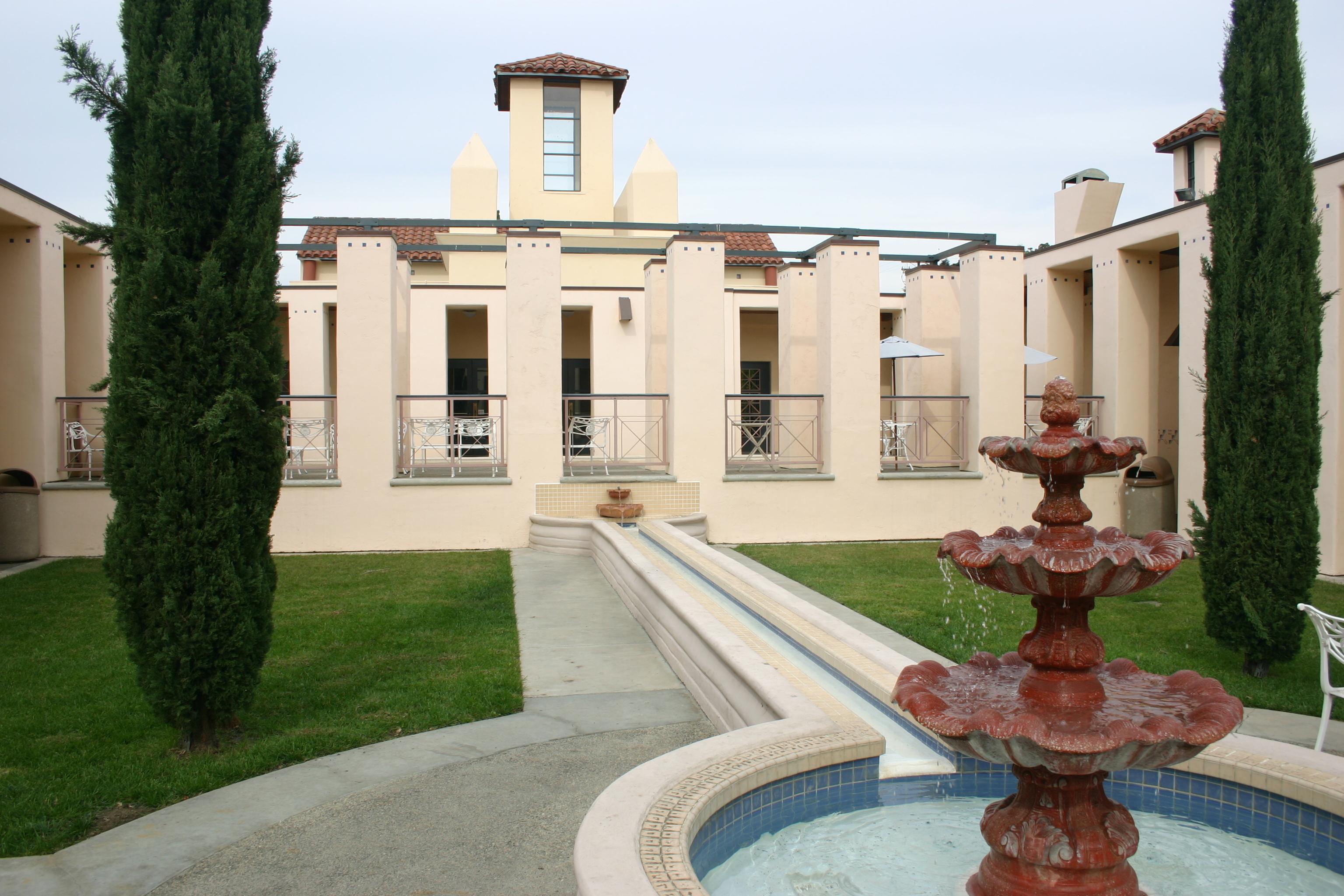 La Sala Auditorium and Courtyard at the San Juan Capistrano Library. File photo