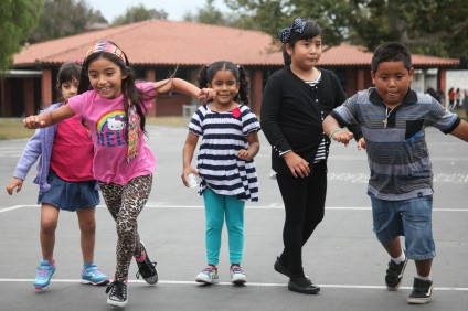 Students enjoy outdoor recess time during their first week of CREER's summer program. Photo: Allison Jarrell
