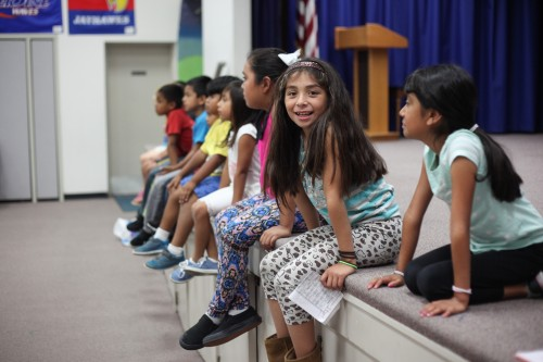 Students get ready to participate in a theater class during their first week of CREER's summer program. Photo: Allison Jarrell