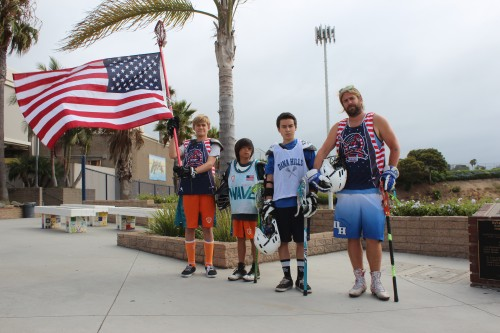 Ryan Patrick, Dylan Iltis, Grant Shiba and Chris Iltis are four of the many local lacrosse players that will take the field at the inaugural west-coast Shootout for Soldiers 24-hour event at Dana Hills High School on July 31. Photo: Evan Da Silva